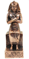Фараон сидит на троне, покрытый медью (пф-45)