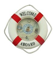 Морская тематика: часы-спасательный круг, 2 цвета (  мт-14)