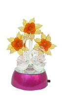 Хрустальные изделия: цветы с лебедями (хи-13)