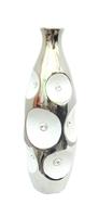 Ваза керамическая с серебром во вмятинах и стразах (вк-130)