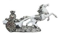 Фигурка: серебряная повозка с мешком денег (пф-36)