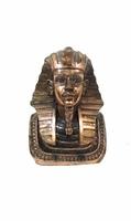 Фигурка: голова фараона покрытая медью (пф-44)