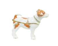 Золотые фигурки: собака с камнями (жз-42)