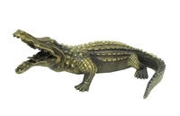 Бронзовый крокодил с открытой пастью (бк-24)