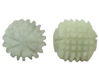 Нефритовые массажеры: 2 массажных шара для рук, ребристые, маленькие (нм-63)