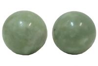 Нефритовые массажеры: 2 массажных шара для рук, гладкие, средние (нм-64)