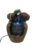 Фонтан средний: три горшочка льют воду на груду камней (фт-06)