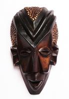 Маска африканская ритуальная, племя Маконда, дерево цейба (мэ-24-21)