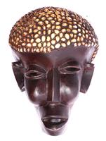 Маска африканская ритуальная, племя Маконда, дерево цейба (мэ-24-20)