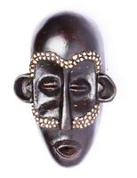 Маска африканская ритуальная, племя Маконда, дерево цейба (мэ-24-19)