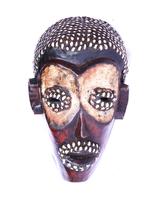 Маска африканская ритуальная, племя Маконда, дерево цейба (мэ-24-18)