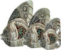 Набор рыб с мозаикой (р-322, р-323 ,р-324)