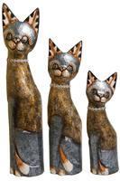 Набор котов с ожерельем из камней  золото с серебром ( к-968, к-969, к-970)
