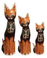 Набор котов коричневый бабочка на груди ( к-977, к-978. к-979)