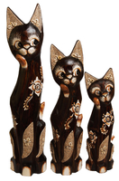 Кот набор коричневый с цветочным узором , с песком и ракушками ( кн-227, кн-228, кн-229)