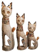 Кот набор бежевый с ракушками прорезь в теле (кн-224, кн-225, кн-226)