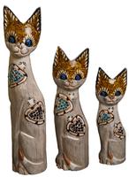 Набор котов бежевый с двумя черепашками(к-971, к-972,к-973)