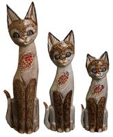 набор котов бежевый с рабкой на груди ( к-965, к-966, к-967)