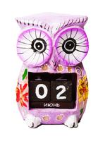 Календарь фигура совы 5 цветов ( ка-42)