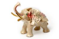 "Шкатулка для колечек ""слон белый с розовым"" жз-40"