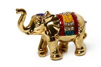 """Шкатулка для колечек """"слон жёлтый"""" жз-38"""