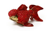 """Шкатулка для колечек """"рыбка красная"""" жз-24"""