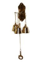Три колокольчика на дверь, латунь (кл-43)