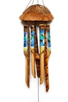 Музыка ветра шапка кокосовая с опушкой маленькая (бв-36)