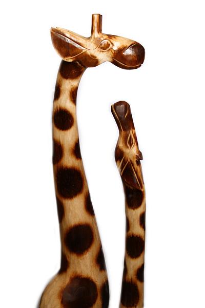 Два жирафа на подставке (ж-119)