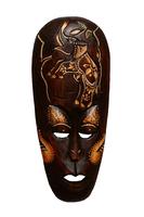 Маска Индонезия коричневая 10 видов (ми-150)