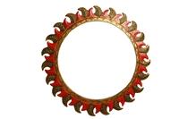 Солнышко - зеркало настенное, d-40см, 9 видов (си-218)