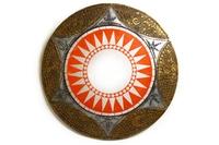 Солнышко с зеркалом серебристо-золотистый край 6 видов (си-221б)