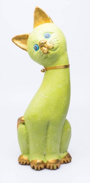 Кот манго изогнута шея разных цветов с колокольчиком (км-60)