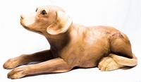 собака лежит лапы вытянув (см-65)