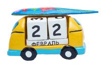 Календарь машинка с серфингом на крыше (ка-47)