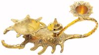 Скорпион латунь подсвечник (сл-01)