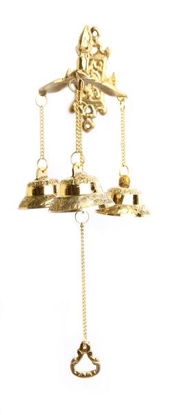 Три колокольчика на дверь, латунь (кл-01)