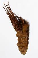 Маска из бамбука лицо человека  (мб-11)
