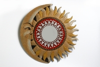 Солнышко - зеркало (Индонезия), d-40 см, 4 вида (си-234в)