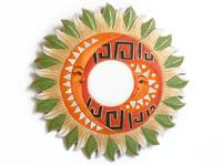 Солнышко-зеркало, (Индонезия), лучи бежево - зелёные, d-50 см, 5 видов (си-239 а)