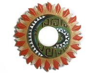 Солнышко-зеркало, (Индонезия), лучи бежево - красные, d-50 см,4 вида (си-239 б)
