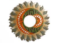 Солнышко-зеркало, (Индонезия), лучи бежево - бирюзовые, d-50см, 5 видов (си-239 в)