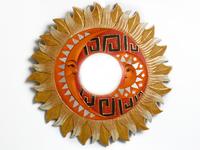 Солнышко-зеркало, (Индонезия), лучи бежево - жёлтые, d-50 см, 4 вида (си-239 г)
