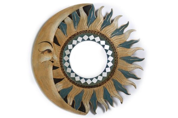 Солнышко-зеркало, (Индонезия), d-40 см, 4 вида, (си-236б)