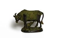 Корова с теленком бронзовые  (бк-27)