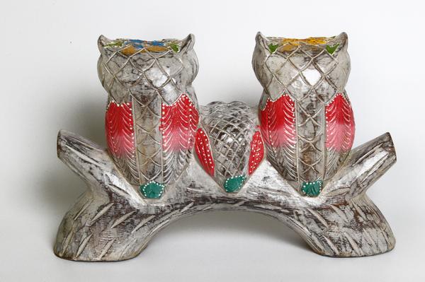 Тотем:3 совы на ветке, 6 цветов (с-254)