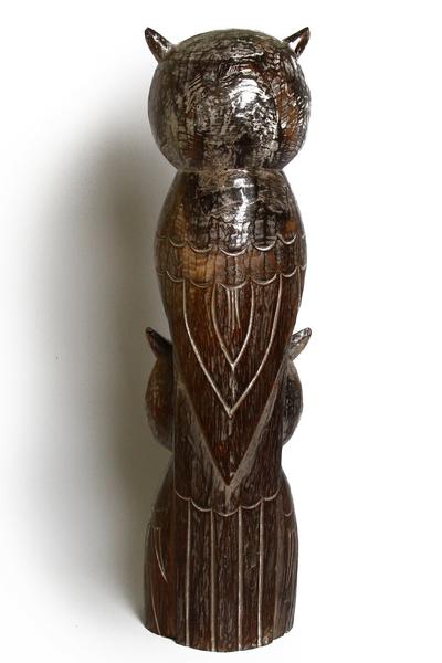 Совы - тотем из 2-х,  дерево балса, 8 цветов (с-252)