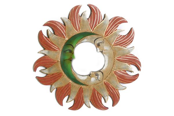 Солнышко-зеркало, (Индонезия), d-40 см, 3 цвета (си-242б)