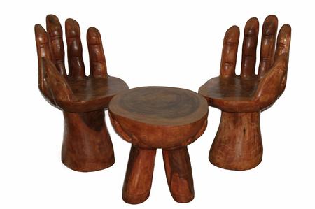 Набор: стол и два стула из мэха (разновидность красного дерева) (ст-74)