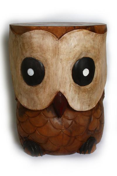 Стул-сова, дерево мех, 4 вида (см-63)